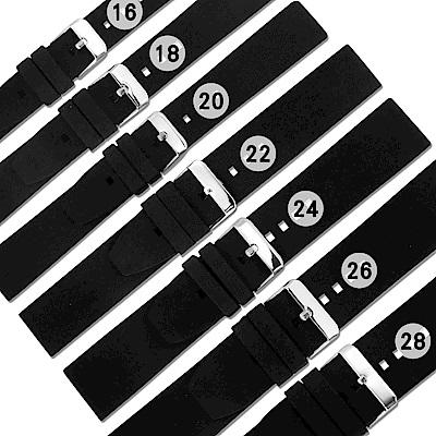 Watchband /舒適耐用輕便運動型矽膠錶帶 黑色