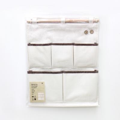 [自然樂居]帆布五口收納掛袋(一入)
