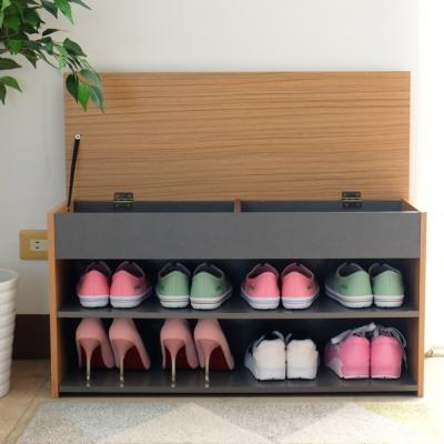 EASY HOME-加寬掀蓋式收納穿鞋椅-80x29.7x41.2cm-DIY