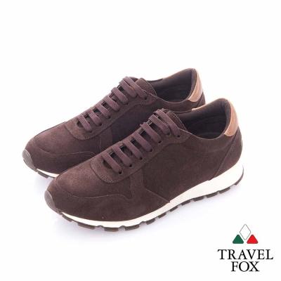 Travel Fox (男) -  反毛皮都會慢跑運動鞋- 深咖
