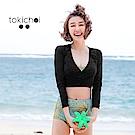 東京著衣 流行設計款三件式泳裝-S.M(共二色)