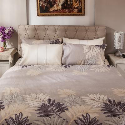【obis】100%純棉5X6.2尺雙人床包兩用被組-法蘭香頌