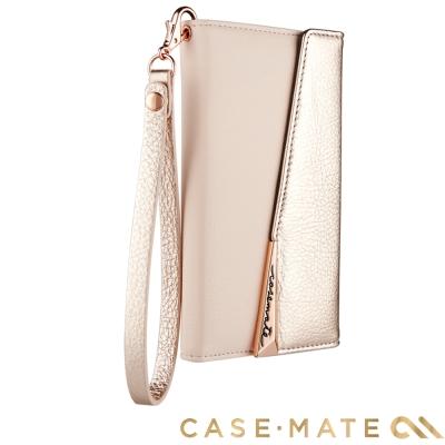 美國 Case-Mate iPhone X 真皮質感手拿包風格手機殼 - 玫瑰金