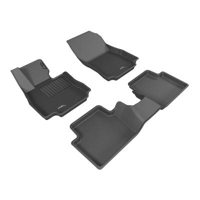 3D 神爪卡固立體踏墊 Mazda 2 2016~ 後座有安全帶護蓋