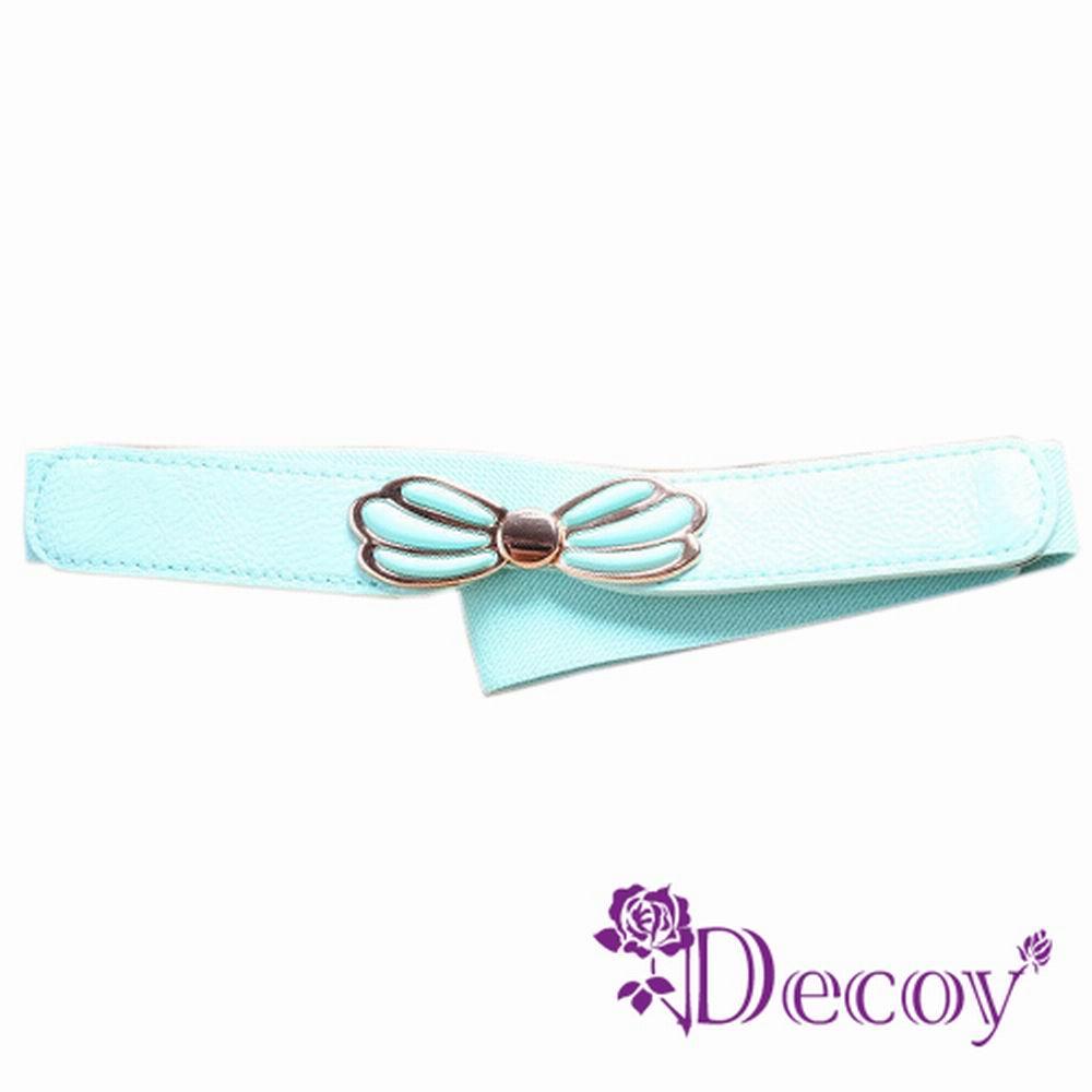 Decoy 立體芭蕉扇 皮革彈性細腰封 五色可選