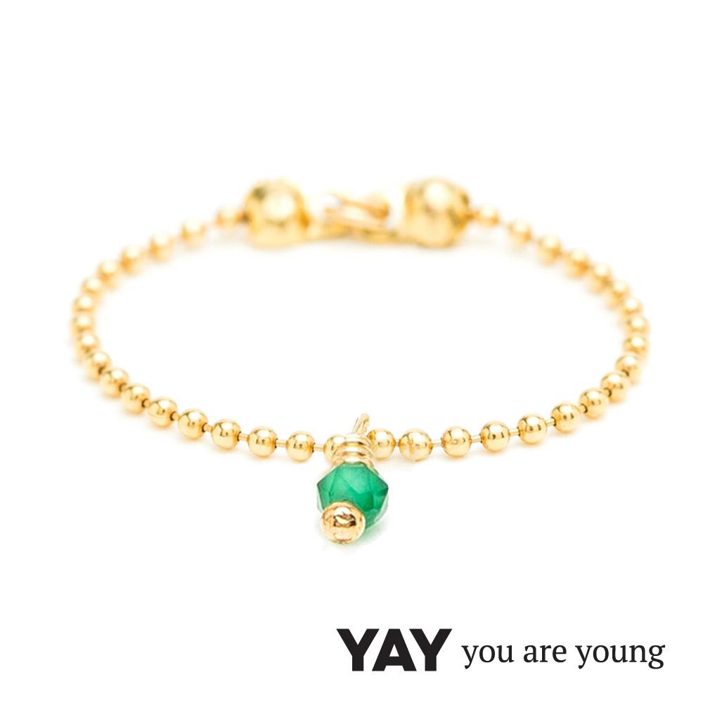 YAY You Are Young 法國品牌 Frida 寶石花束戒指 鍊戒款 綠寶石