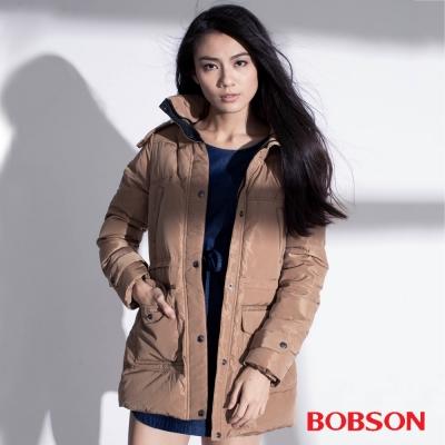 BOBSON 女款絲綿長版外套
