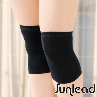 Sunlead 日本製。遠紅外線薄型彈性膝關節套 (黑色)
