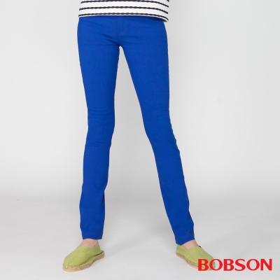 BOBSON 女款高腰大彈力緊身褲(寶藍8110-50)