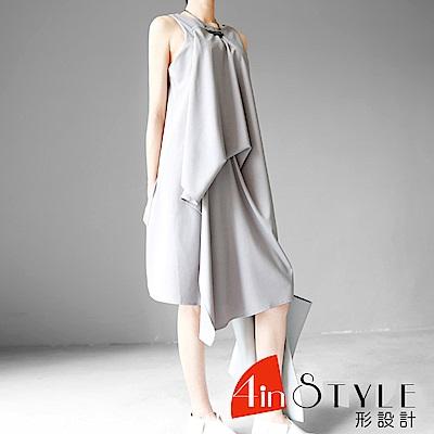 兩穿不規則立體剪裁層次感洋裝 (共二色)-4inSTYLE形設計