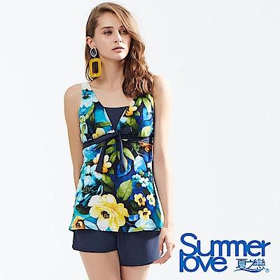 夏之戀SUMMER LOVE 大女長版三件式泳衣-加大碼