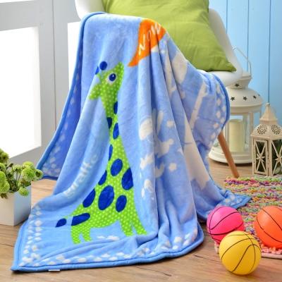 MONTAGUT-可愛法蘭絨兒童毛毯-長頸鹿