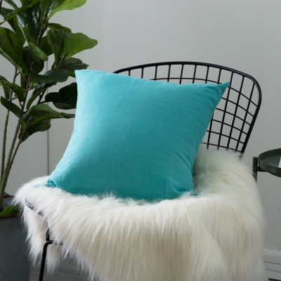 IN HOUSE-棉麻抱枕-土耳其藍(45x45cm)