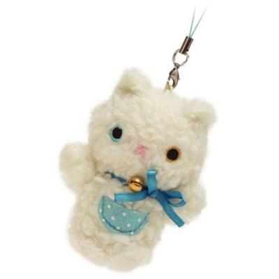小襪貓禮物絨毛吊飾-白貓
