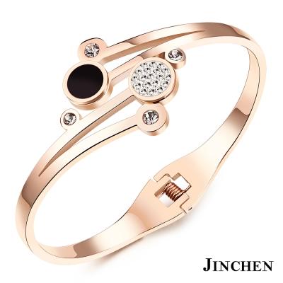 JINCHEN 白鋼點點水鑽手環
