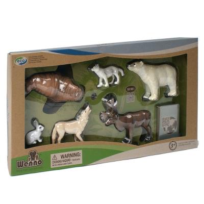 Wenno動物模型 海洋系列 北極動物6入 WAC06001