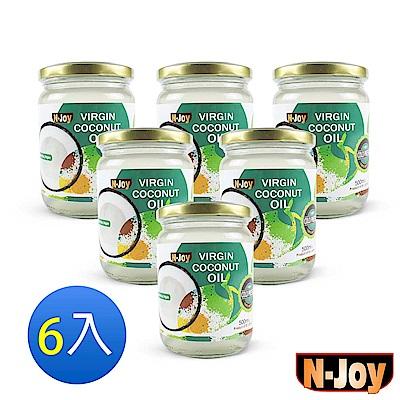 N-Joy 恩久 有機冷壓初榨椰子油(500mlx6入)