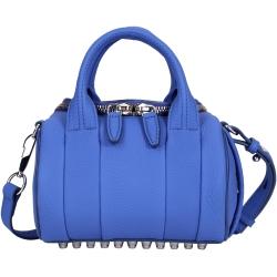 Alexander Wang Mini Rockie 荔紋羊皮兩用提包(藍色)
