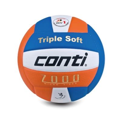 conti 日本超細纖維結構專利排球(5號球) (白藍橘)