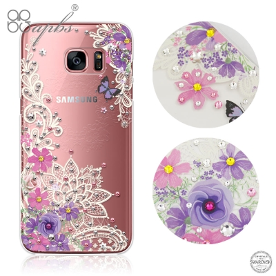 apbs Samsung Galaxy S7 edge施華洛世奇彩鑽手機殼-蕾絲花