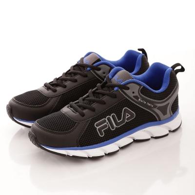 FILA 男款 Biella  Ltalia 走路 慢跑鞋~黑藍