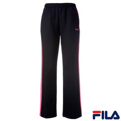 FILA女針織長褲-黑-桃-5PNQ-5523-BK