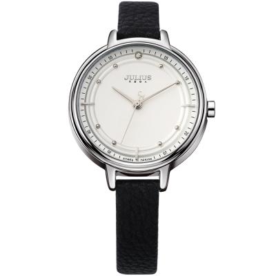 JULIUS聚利時 理想情人點鑽手錶-黑色/33mm