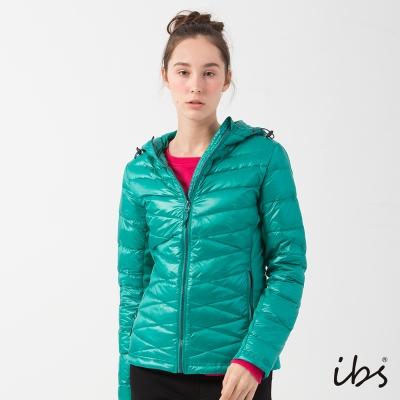 ibs科技軟殼布運動時尚羽絨外套(湖水綠-女)