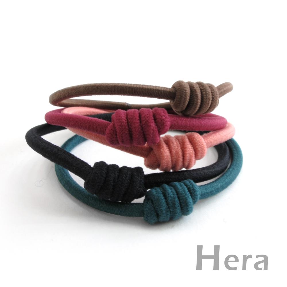 Hera赫拉 純色彈力扭結二用手圈/髮圈/髮束(五入組)