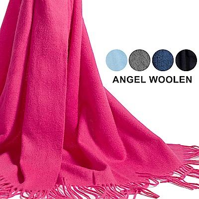 Angel Woolen 經典厚織暖感羔羊毛披肩 圍巾-共5色