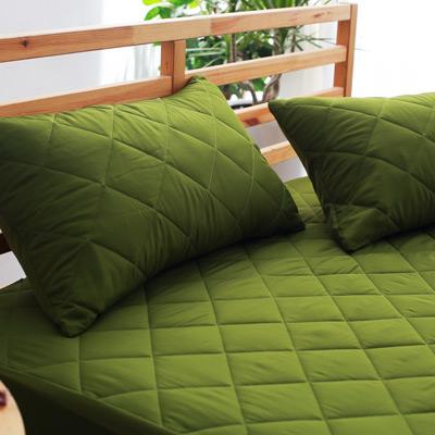 美夢元素 繽紛馬卡龍保潔枕頭套二入〈軍綠〉