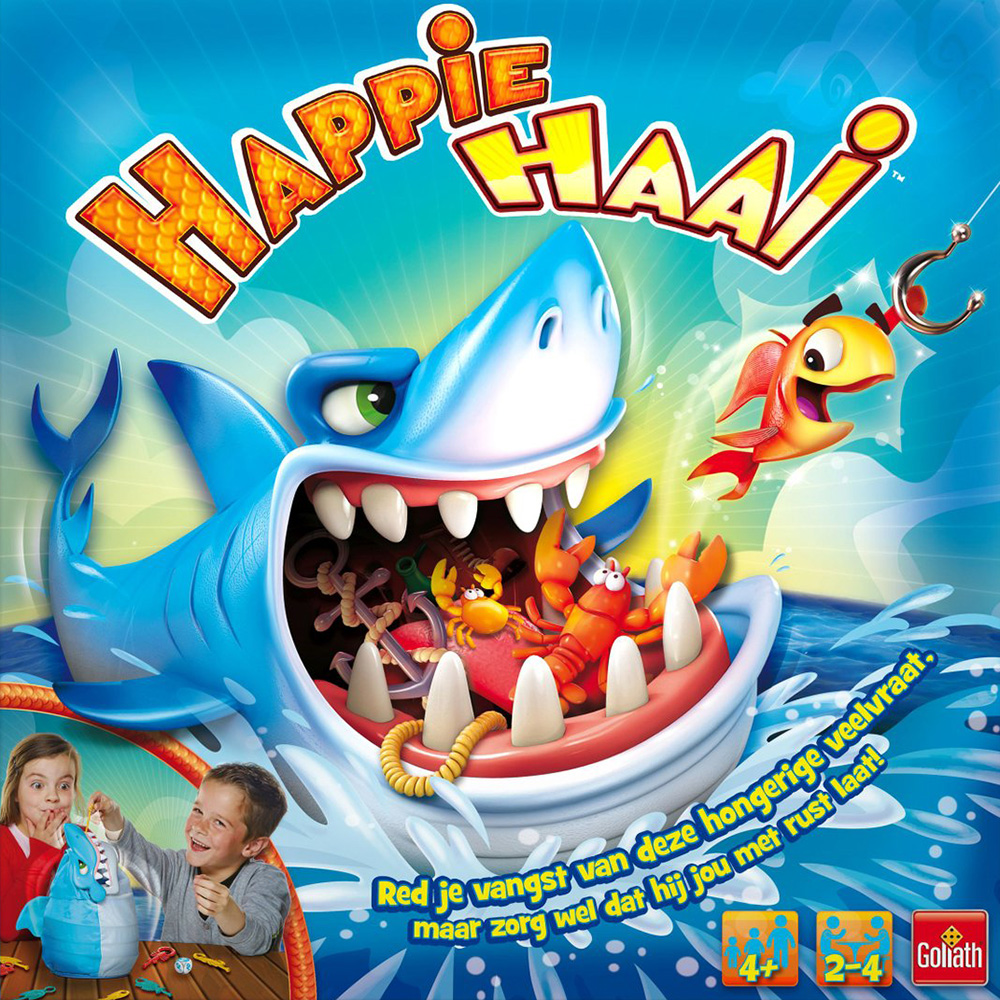Amuzinc酷比樂派對桌遊玩具Happie Haai摸魚摸到大白鯊附中文說明書