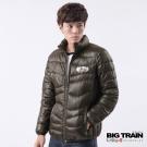 BIG TRAIN 壓格絲棉外套-男-咖啡