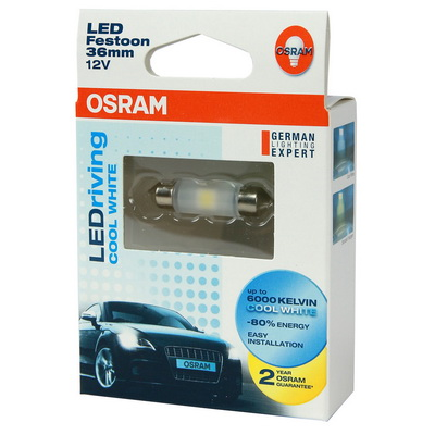 OSRAM LED 36mm 汽車室內燈(2入)公司貨