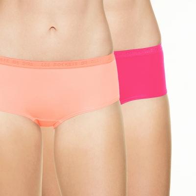 法國DIM-Pockets「旅行輕便-超細纖維」系列經典平口褲2件組-桃橘