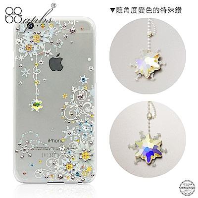 apbs iPhone6s/6 Plus 5.5吋 施華洛世奇彩鑽手機殼-雪絨花