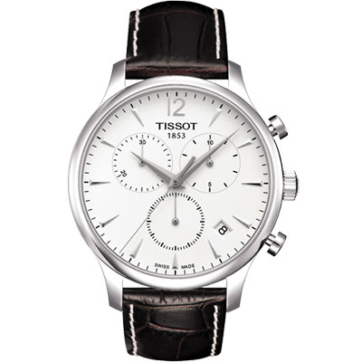 TISSOT T-TRADITION 極簡風計時腕錶-白/42mm
