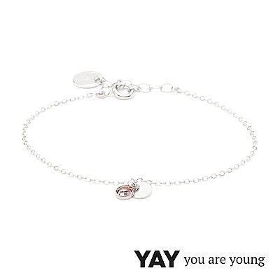 YAY You Are Young 法國品牌 Sultane 粉水晶手鍊 925純銀
