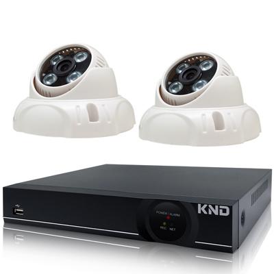 奇巧 4路1080P台製KND單硬碟款主機-含SONY 200萬半球型攝影機x2