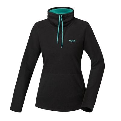 ATUNAS 歐都納 女款平價奢華長袖保暖寬領衫  A1-P1642W 黑