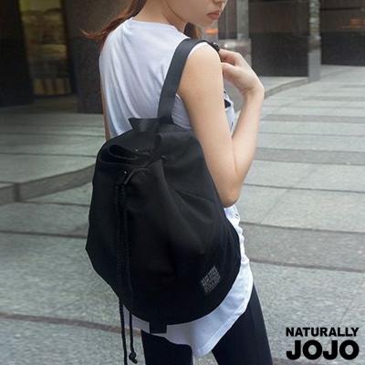 NATURALLY JOJO 素色帆布水桶包 (黑)