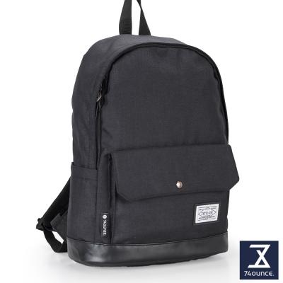 74盎司 CITY S 配皮設計後背包(14吋)[G-904]黑