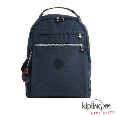 Kipling-後背包-深海藍素面
