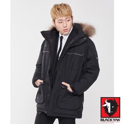 【韓國 BLACK YAK】Gore-Tex 防風防水軍裝帽可拆羽絨外套_黑