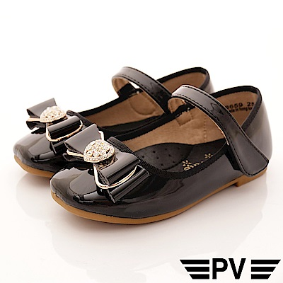 PV日系私藏 緞帶晶鑽公主鞋款 8659黑(中小童段)