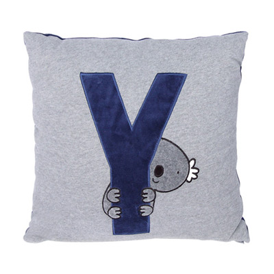Yvonne-無尾熊45x45cm方形抱枕-暗灰