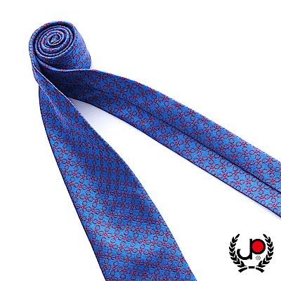 極品西服 100%絲質義大利手工領帶_幾何圓點藍紫(YT5068)