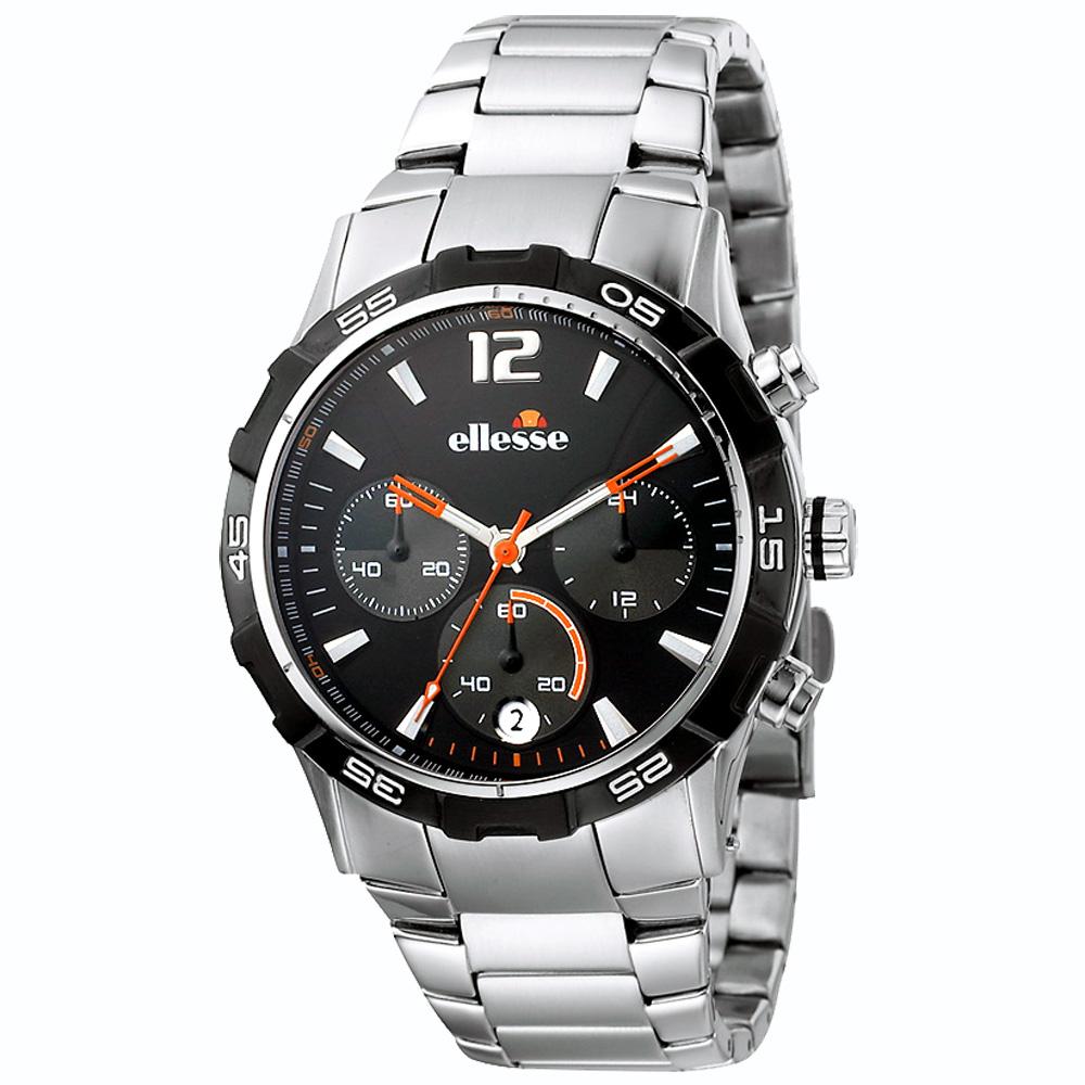 ellesse Sportivo系列 奔馳時計運動腕錶(黑)