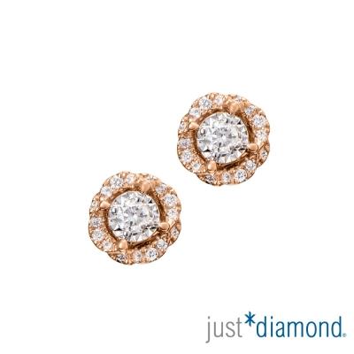 Just Diamond 18K金 鑽石耳環-花語呢喃