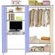 巴塞隆納-W3型90公分-E90公分電腦桌衣櫥架